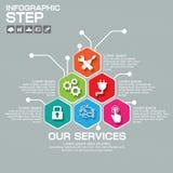 Biznesowy pojęcie z Elektrycznym usługa loga szablonem 6 części, op Zdjęcia Stock