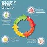 Biznesowy pojęcie z opcjami, częściami, krokami lub procesami 4, Obrazy Stock
