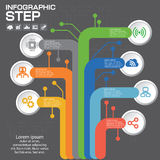 Biznesowy pojęcie z opcjami, częściami, krokami lub procesami 7, Zdjęcie Royalty Free