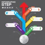 Biznesowy pojęcie z opcjami, częściami, krokami lub procesami 5, Zdjęcie Royalty Free