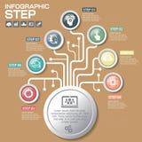 Biznesowy pojęcie z opcjami, częściami, krokami lub procesami 7, Obrazy Stock