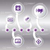 Biznesowy pojęcie z opcjami, częściami, krokami lub procesami 6, Zdjęcie Royalty Free