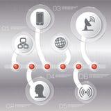 Biznesowy pojęcie z opcjami, częściami, krokami lub procesami 6, Zdjęcia Royalty Free