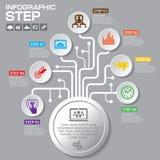 Biznesowy pojęcie z opcjami, częściami, krokami lub procesami 7, może Zdjęcia Stock