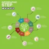 Biznesowy pojęcie z opcjami, częściami, krokami lub procesami 8, może Fotografia Stock