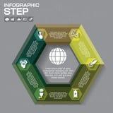 Biznesowy pojęcie z opcjami, częściami, krokami lub procesami 6, może Zdjęcia Stock