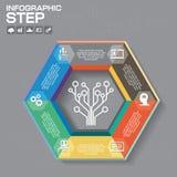 Biznesowy pojęcie z opcjami, częściami, krokami lub procesami 6, może Fotografia Stock