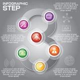 Biznesowy pojęcie z opcjami, częściami, krokami lub procesami 6, może Zdjęcie Royalty Free