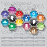 Biznesowy pojęcie z opcjami, częściami, krokami lub procesami 12, może Fotografia Stock
