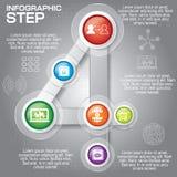 Biznesowy pojęcie z opcjami, częściami, krokami lub procesami 6, może Obrazy Stock