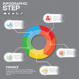 Biznesowy pojęcie z opcjami, częściami, krokami lub procesami 5, może używać dla obieg układu, diagram, numerowe opcje Zdjęcia Stock
