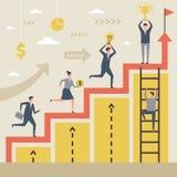 Biznesowy pojęcie zwycięzcy Sukces zaludnia bieg ich duży cel royalty ilustracja