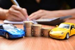Biznesowy pojęcia ubezpieczenie samochodu, bubel lub zakupu samochód, samochodowy financi Obraz Stock