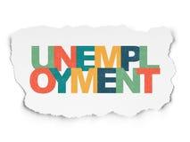 Biznesowy pojęcie: Bezrobocie na Poszarpanym papierze Obraz Royalty Free