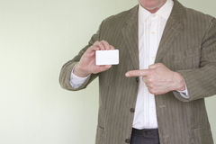 Biznesowy pojęcie biznesmen wizytówki szereg finansowe Fotografia Stock