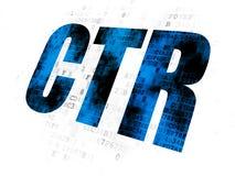 Biznesowy pojęcie: CTR na Cyfrowego tle Obraz Royalty Free
