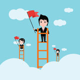 Biznesowy pojęcie drabina korporacyjna sukces Obraz Stock
