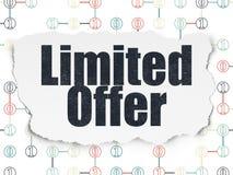 Biznesowy pojęcie: Limitowana oferta na Poszarpanym papierze Obraz Royalty Free