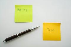 Biznesowy pojęcie notatka spotkanie Zdjęcie Royalty Free