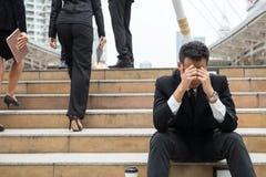 Biznesowy pojęcie, sukces lub fail, Obrazy Stock