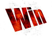 Biznesowy pojęcie: Wygrana na Cyfrowego tle Fotografia Stock