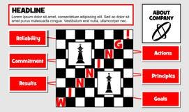Biznesowy poj?cie, wygrana strategia Poj?cia niezawodno??, akcje, oddanie, zasady, rezultaty i cele, royalty ilustracja