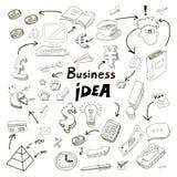 Biznesowy pomysł doodles ikony ustawiać Zdjęcia Royalty Free