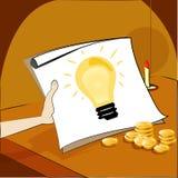 Biznesowy pomysł na rocznika pojęciu Obrazy Stock