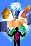 Biznesowy pomysł i lampa Fotografia Royalty Free