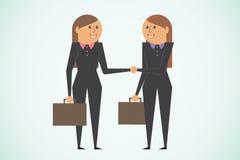 Biznesowy powitanie ilustracja wektor