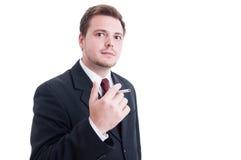 Biznesowy pracownik bierze papierosowego przerwy pojęcie Obrazy Stock