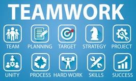 Biznesowy pracy zespołowej drużyny ciężkiej pracy pojęcie również zwrócić corel ilustracji wektora Obraz Stock