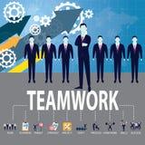 Biznesowy pracy zespołowej drużyny ciężkiej pracy pojęcie również zwrócić corel ilustracji wektora Zdjęcie Royalty Free