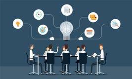 Biznesowy pracy zespołowej spotkanie i brainstorm pojęcie Zdjęcia Stock