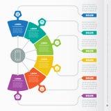 Biznesowy prezentaci pojęcie z sześć opcjami Sieć szablon ilustracja wektor