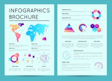 Biznesowy prezentacja szablon z infographics royalty ilustracja