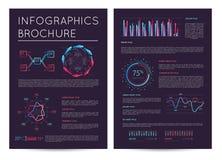 Biznesowy prezentacja szablon z infographics ilustracja wektor