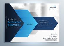 biznesowy prezentacja szablonu projekt w błękitnym geometrycznym kształta st ilustracji