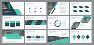 Biznesowy prezentacja szablonu strony i projekta układu projekt dla broszurki, sprawozdania rocznego i firmy profilu, ilustracja wektor