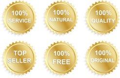 biznesowy promo sześć majcherów Zdjęcia Royalty Free