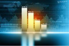 Biznesowy przyrost chart royalty ilustracja