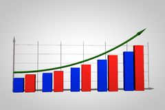 Biznesowy przyrost chart Obrazy Royalty Free
