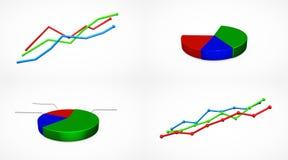 Biznesowy przyrost chart Obraz Royalty Free