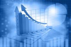 Biznesowy przyrost chart Obraz Stock