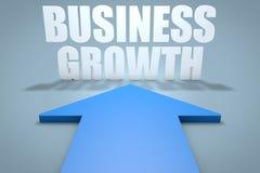 Biznesowy przyrost Ręka wskazuje biznesową mapę obrazy royalty free
