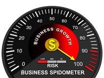 Biznesowy przyrost Ręka wskazuje biznesową mapę zdjęcia stock