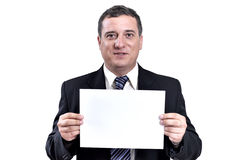 biznesowy ręk mężczyzna papier Zdjęcie Royalty Free