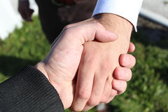 Biznesowy ręki chwianie Obraz Royalty Free