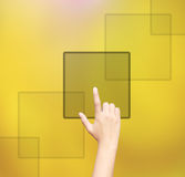 Biznesowy ręki klikać Zdjęcia Stock