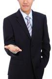 biznesowy ręki mienia mężczyzna target1341_0_ potomstwa Zdjęcia Royalty Free